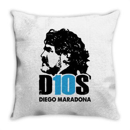 Diego Armando Maradona Argentina Throw Pillow Designed By Smile 4ever