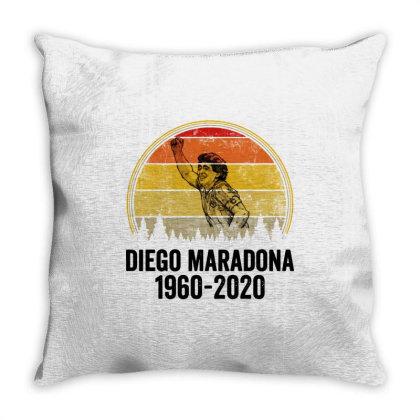 Diego Armando Maradona 1960 2020 Vintage Throw Pillow Designed By Smile 4ever