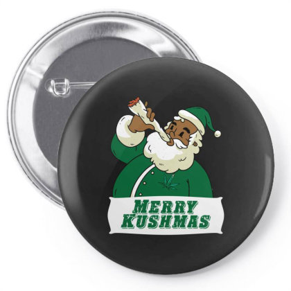 Black African American Santa Merry Kushmas Pin-back Button Designed By Koopshawneen