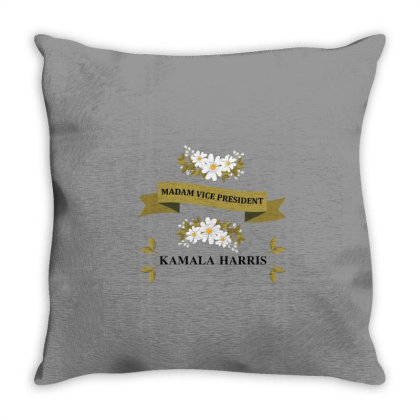 Madam Vice President Throw Pillow Designed By Coşkun