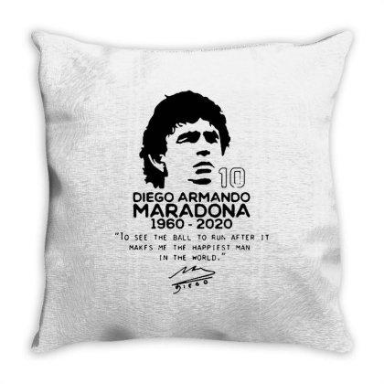 Diego Armando Maradona 10 Throw Pillow Designed By Smile 4ever