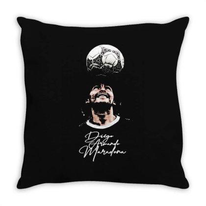 Diego Armando Maradona  Thank You For The Memories Throw Pillow Designed By Smile 4ever