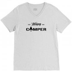 Happy Camper V-Neck Tee | Artistshot