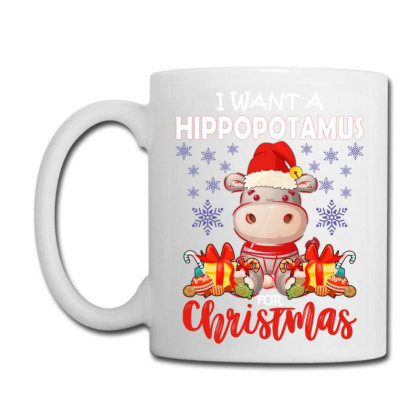 I Want A Hippopotamus For Christmas Coffee Mug Designed By Ashlıcar