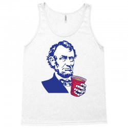 Abraham Lincoln Celebrating 4th Of July Tank Top | Artistshot