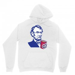 Abraham Lincoln Celebrating 4th Of July Unisex Hoodie | Artistshot