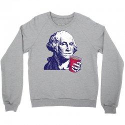 George Washington Celebrating 4th Of July Crewneck Sweatshirt | Artistshot