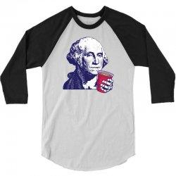 George Washington Celebrating 4th Of July 3/4 Sleeve Shirt | Artistshot