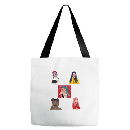 Cool Girls   Fun Girls   Sticker For Girls   Girls Room Tote Bags Designed By Samlombardie