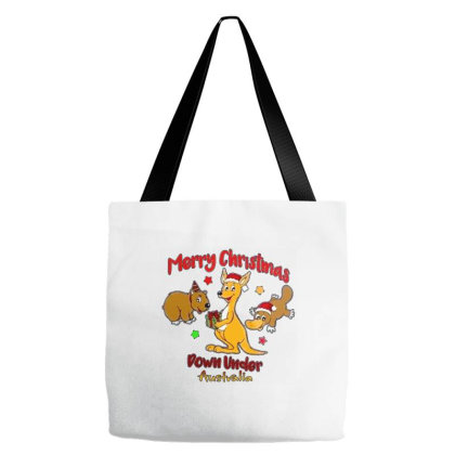 Merry Christmas Down Under Australia Tote Bags Designed By Samlombardie