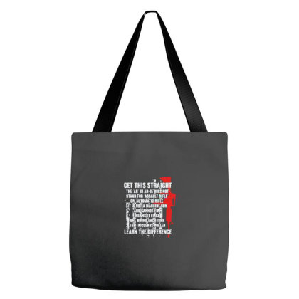 Get This Straight Ar 15 Tote Bags Designed By Yusrizal_