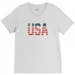 usa V-Neck Tee | Artistshot