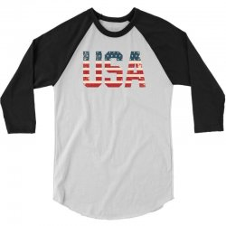 usa 3/4 Sleeve Shirt | Artistshot