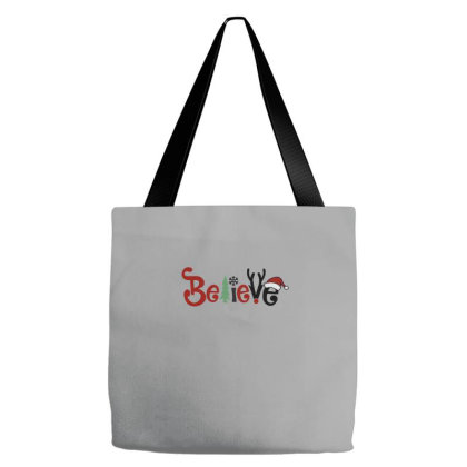 Christmas Believe Tote Bags Designed By Blackstone