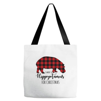 Hippopotamus For Christmas Tote Bags Designed By Smile 4ever