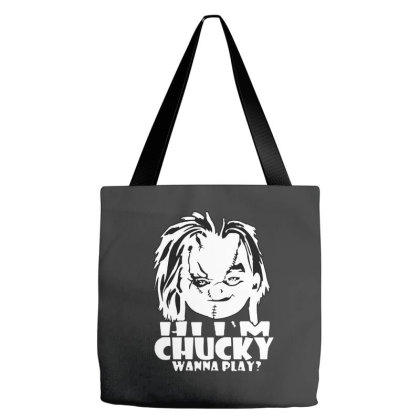 Hi I'm Horror Tote Bags Designed By Smile 4ever