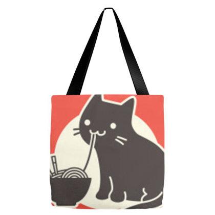 Ramen Cat Restaurant Tote Bags Designed By Reswasa
