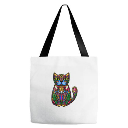 Christmas Cat Tote Bags Designed By Blackstone
