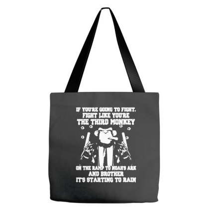 Fight Like You're The Third Monkey Tote Bags Designed By Smile 4ever