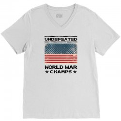 Undefeated World War Champs V-Neck Tee | Artistshot