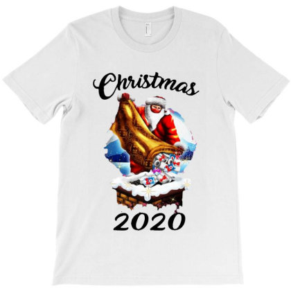 Funny Santa Mask Christmas T-shirt Designed By Romeo And Juliet