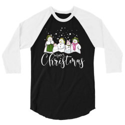 funny snowman christmas family 3/4 Sleeve Shirt | Artistshot