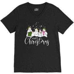 funny snowman christmas family V-Neck Tee | Artistshot