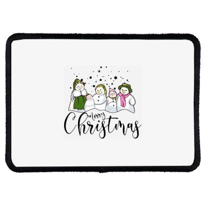 Funny Snowman Christmas Family Rectangle Patch Designed By Romeo And Juliet