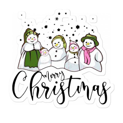 Funny Snowman Christmas Family Sticker Designed By Romeo And Juliet