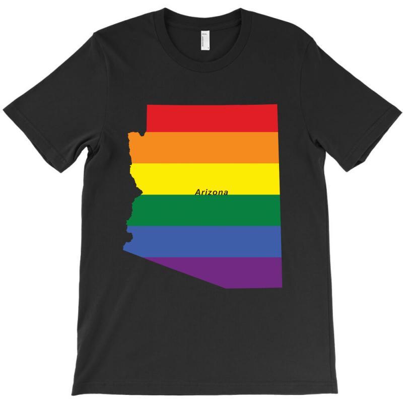 Arizona Rainbow Flag T-shirt | Artistshot