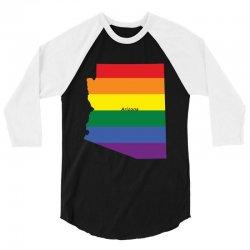 arizona rainbow flag 3/4 Sleeve Shirt | Artistshot