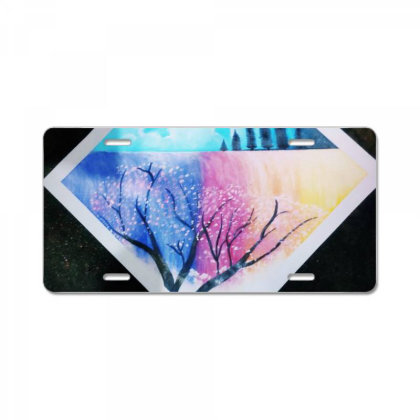 Colourful Waterfall License Plate Designed By Guptaji1432