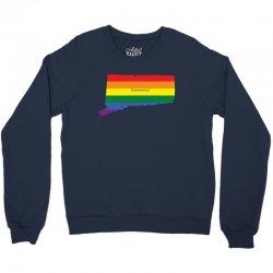 connecticut rainbow flag Crewneck Sweatshirt | Artistshot