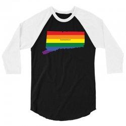 connecticut rainbow flag 3/4 Sleeve Shirt | Artistshot