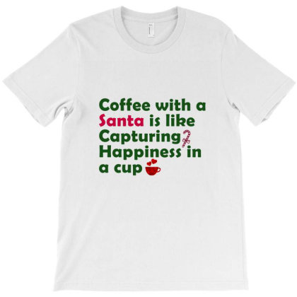 Coffee With Santa T-shirt Designed By Chiks