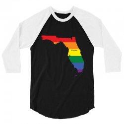 florida rainbow flag 3/4 Sleeve Shirt | Artistshot