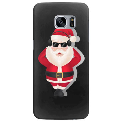 Santa Claus Headphones Sunglasses Samsung Galaxy S7 Edge Case Designed By Chiks