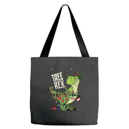 Dinosaurs Tree Rex Christmas Shirt Tote Bags Designed By Hoainv