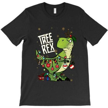 Dinosaurs Tree Rex Christmas Shirt T-shirt Designed By Hoainv