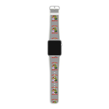 Don't Stop Believin' Unicorn Dabbing Christmas Tree Apple Watch Band Designed By Hoainv