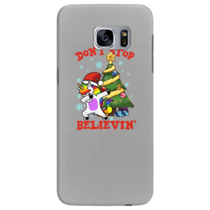 Don't Stop Believin' Unicorn Dabbing Christmas Tree Samsung Galaxy S7 Edge Case Designed By Hoainv