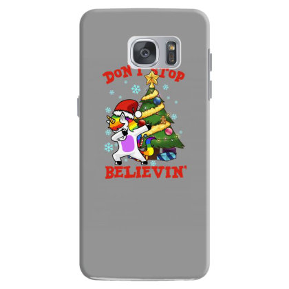 Don't Stop Believin' Unicorn Dabbing Christmas Tree Samsung Galaxy S7 Case Designed By Hoainv