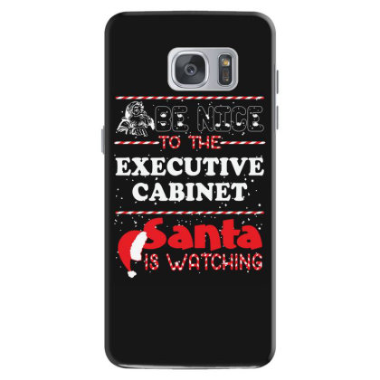 Be Nice To The Executive Cabinet Santa Is Watching, Santa Is Watching Samsung Galaxy S7 Case Designed By Hoainv