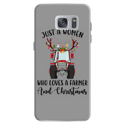 Just A Woman Who Loves A Farmer And Christmas Samsung Galaxy S7 Case Designed By Hoainv