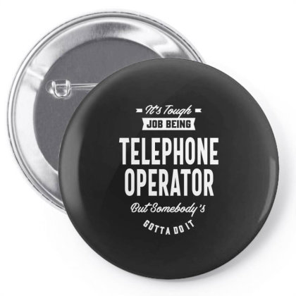Telephone Operator Job Title Gift Pin-back Button Designed By Cidolopez