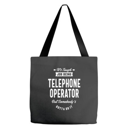 Telephone Operator Job Title Gift Tote Bags Designed By Cidolopez