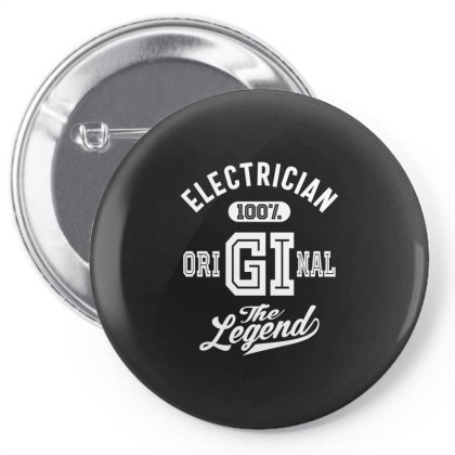 Electrician Job Title Gift Pin-back Button Designed By Cidolopez