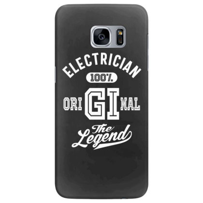 Electrician Job Title Gift Samsung Galaxy S7 Edge Case Designed By Cidolopez