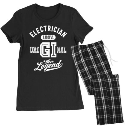 Electrician Job Title Gift Women's Pajamas Set Designed By Cidolopez