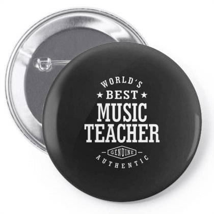 Music Teacher Job Title Gift Pin-back Button Designed By Cidolopez